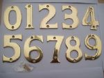 "3""/75mm Solid Brass Chunky Wide House Door Numbers Numerals Polished Brass"